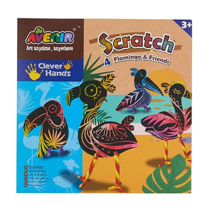 Avenir Scratch Art - Flamingo & Friends Cut Out
