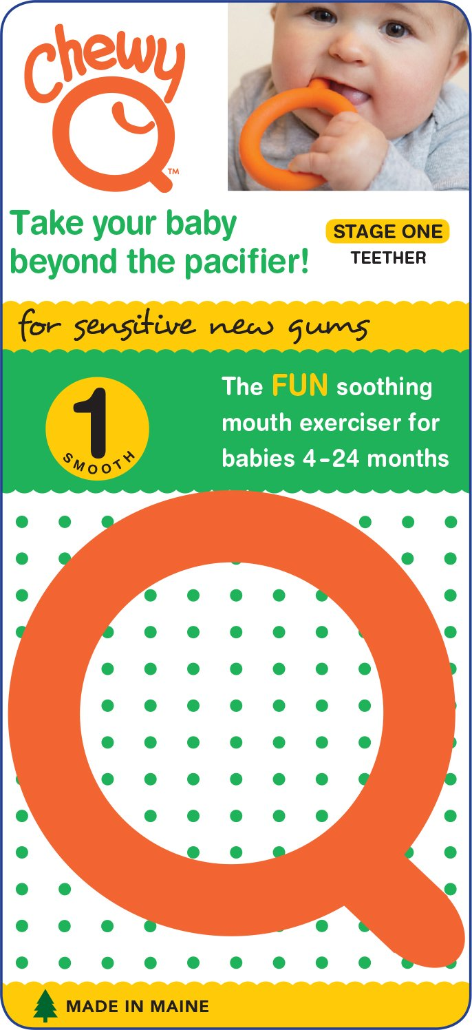 Chewy Tubes Chewy Q Baby Teether (Stage 1) - Orange
