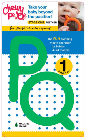 Chewy Tubes P's & Q's (Stage 1) Teether