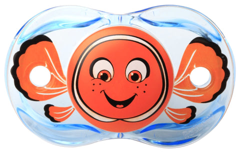 RaZbaby Keep-It-Clean Pacifier, Clown Fish