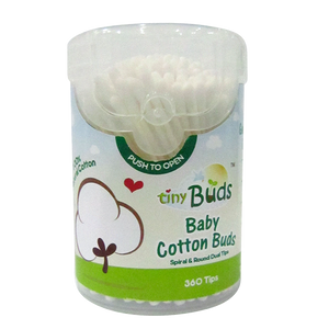 Tiny Buds Baby Cotton Buds - 360 Tips