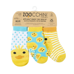 Zoocchini Terry Socks Set - Puddles the Duck