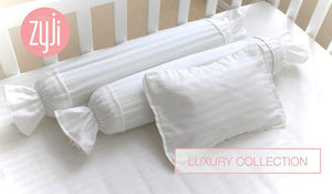 3pc Luxury Pillowcase Set - White