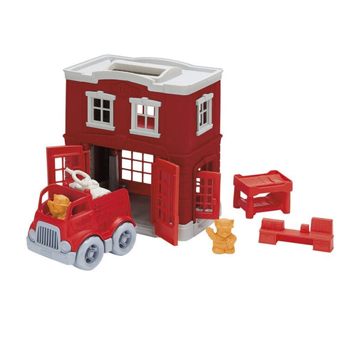 Green Toys Fire Station Playset