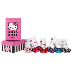 Trumpette Hello Kitty Bow Pixies Socks, 6 Pack
