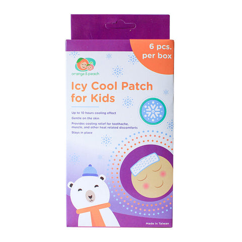 Orange & Peach Icy Cool Patch for Kids (6 patches)