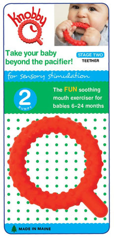 Knobby Q Baby Teether (Stage 2) - Red