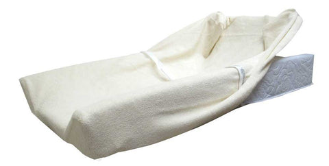L.A. Baby Contour Changing Pad Cover - Terry Cream