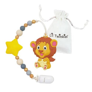 Li'l Twinkies Teether w/ Clip-On, Loveable Lion