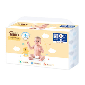 Baby Moby Chlorine Free Diaper Pants 40ct - Large