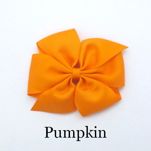 Celestina & Co. Large Signature Bow in Pumpkin