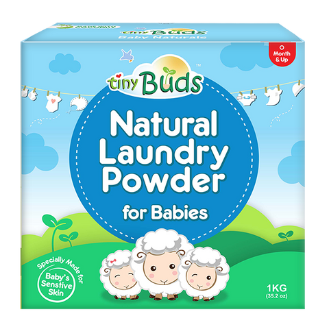 Tiny Buds Natural Laundry Powder For Babies - 1Kg