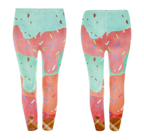 Googoo and Gaga Kids Leggings Ice Cream
