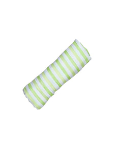 ORGANIC SWADDLE - LIME STRIPE