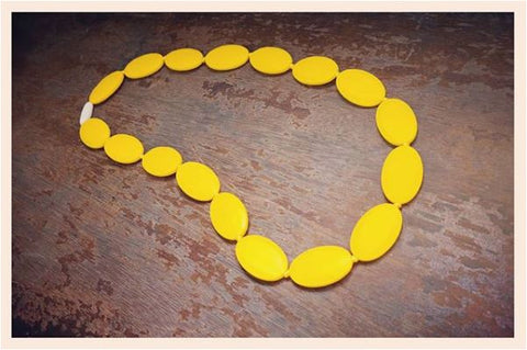 Chunky Chewelries Ovals Lemon Yellow