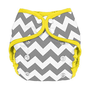 Planetwise Diaper Cover - Gray Chevron