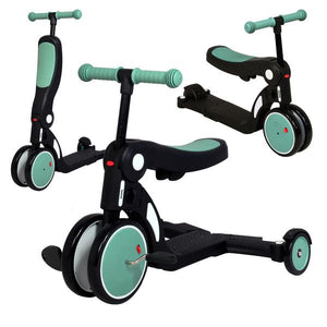 Looping Scootizz 5-in-1 Ride-On Bike Convertible to Scooter - Green