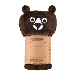 Zoocchini Hooded Blanket - Bear