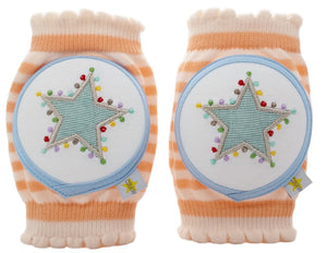 Crawlings Tangerine Star Knee Pads