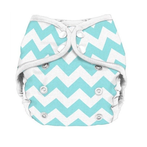 Planetwise Diaper Cover - Teal Chevron