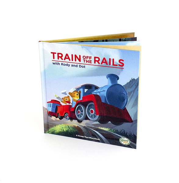 Green Toys Train Off The Rails with Kody & Dot