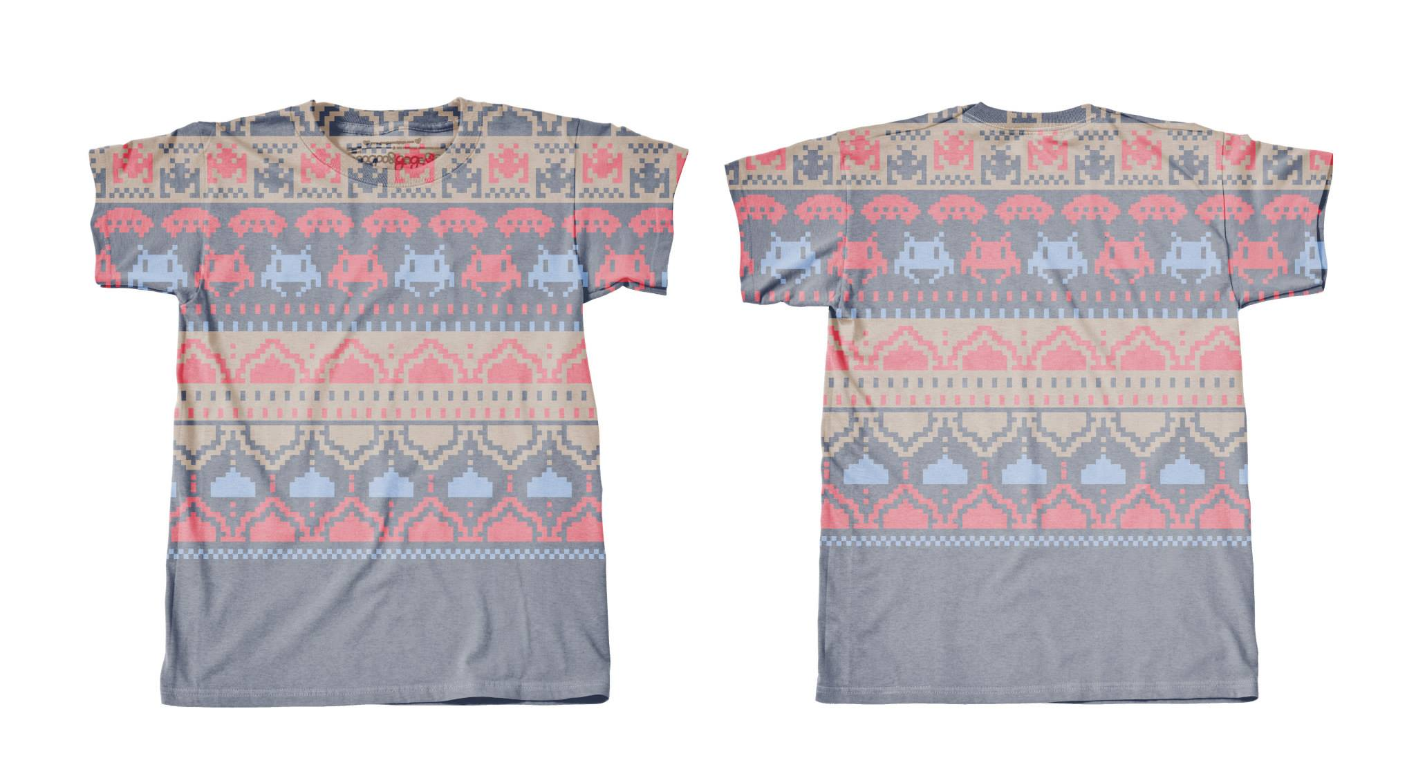 Googoo and Gaga Women's Tee Fair Isle Invaders