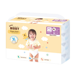 Baby Moby Chlorine Free Diaper Pants 36ct - Extra Large