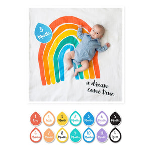 Lulujo Milestone Blanket & Card Set - A Dream Come True