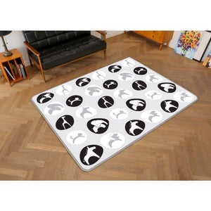 Funnylon 140 Folding Playmat - B&W Animal World