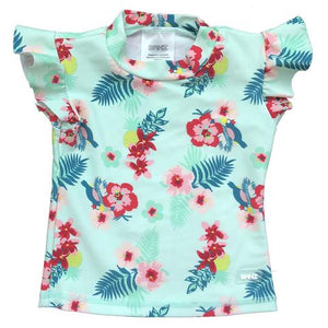 Banz Baby Short Sleeve Rash Top - Mint Pansy
