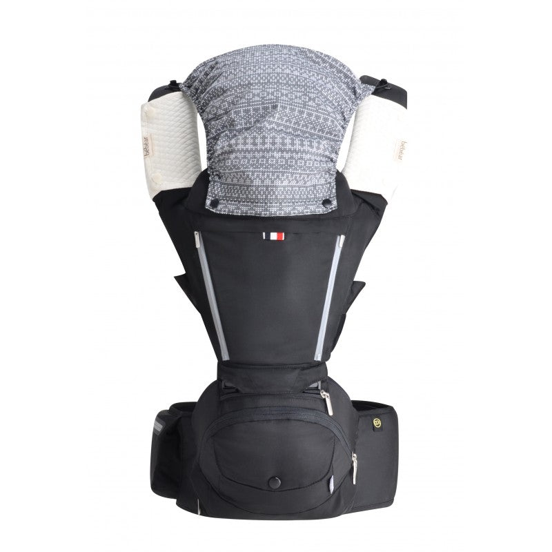 Bebear AX Foldable Aluminum Hip Seat Carrier - Brilliant Black