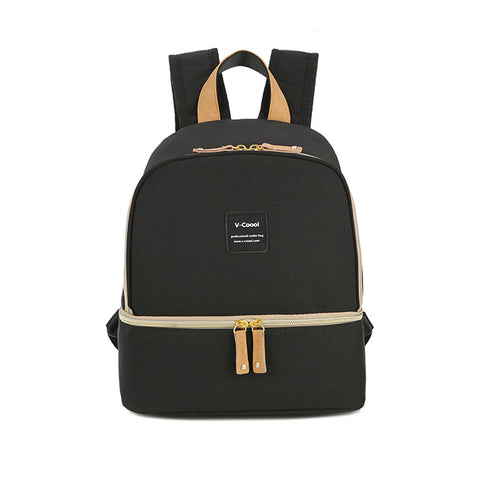 V-Coool Simple Shoulders Cooler Bag - Black