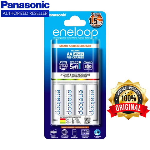 Eneloop AA4x 2100x Rechargeable Battery with Smart Quick Charger