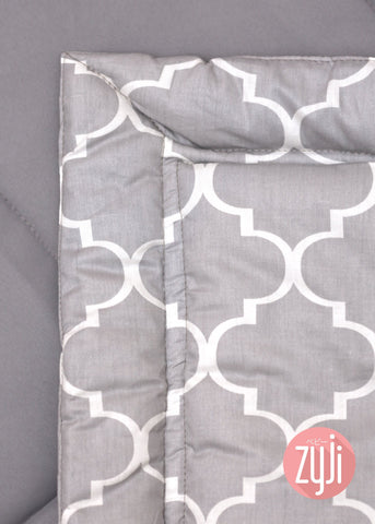7pc Baby Bedding Set (28x52) - Moroccan Gray