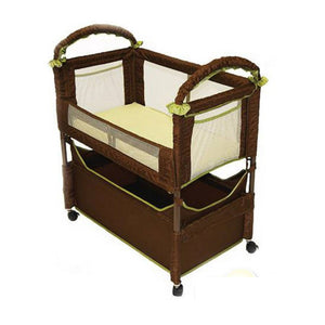 Arm's Reach Clear-Vue Co-Sleeper - Cocoa Fern