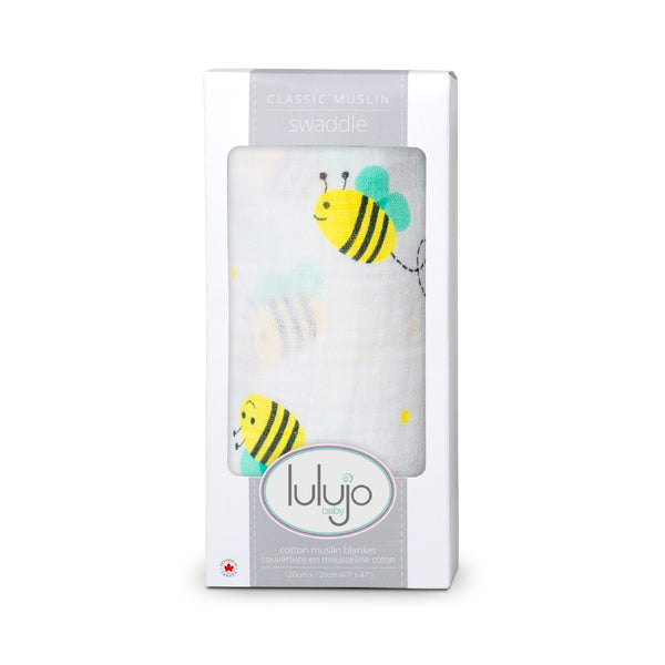 Lulujo Cotton Muslin (Single) - Bumbling Bee