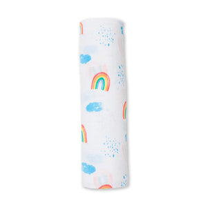 Lulujo Cotton Muslin (Single) - Rainbow Sky