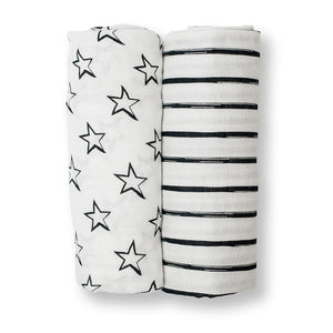 Lulujo Cotton Muslin (Set of 2) - Stars and Stripes
