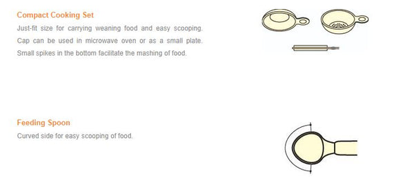 Combi Baby Label: Compact Cooking Set