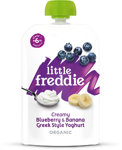 Little Freddie 100g Creamy Blueberry & Banana Greek Style Yoghurt