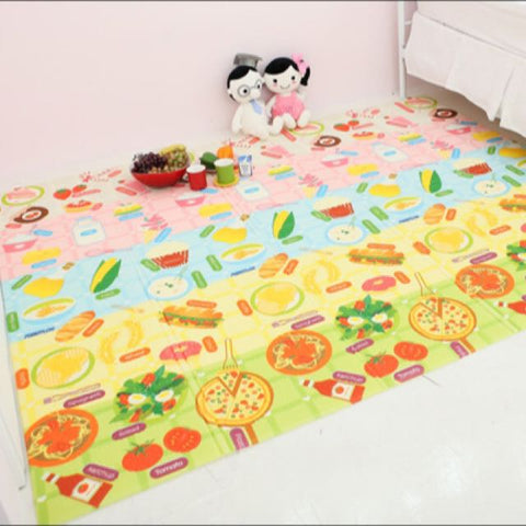 Funnylon Dual Side Playmat - Foodworld