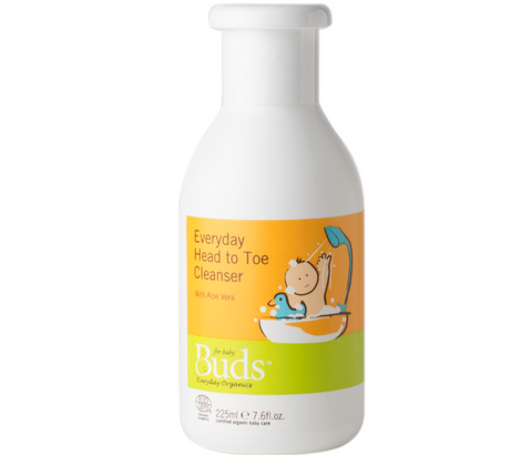 Buds Baby Organics Everyday Head to Toe Cleanser 225ml