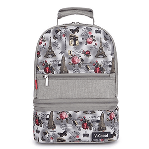 V-Coool Cooler Bag Backpack Removable from Top to Bottom - Grey