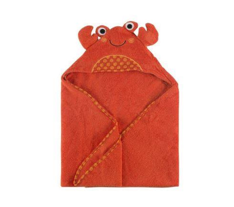 Zoocchini Baby Hooded Towel - Charlie the Crab