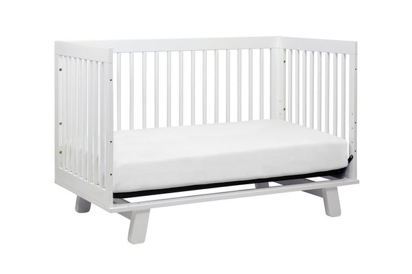 Babyletto Hudson 3-in-1 Convertible Crib with Toddler Bed Conversion Kit - White