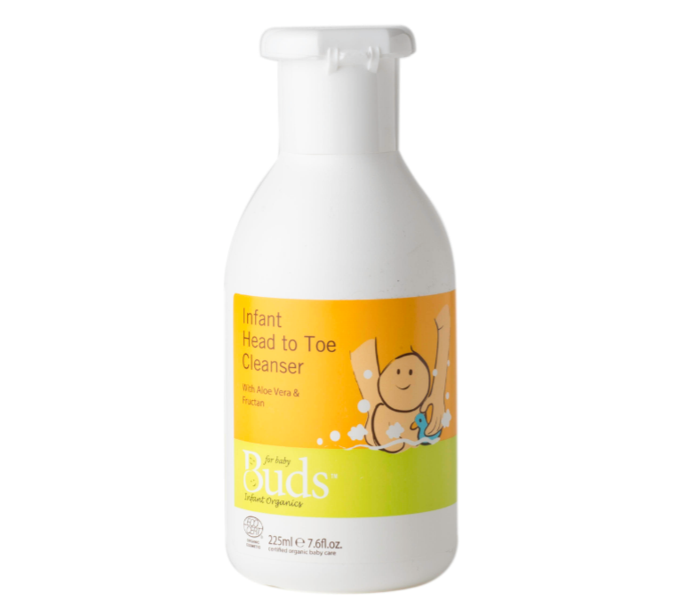 Buds Baby Organics Infant Head to Toe Cleanser 225ml