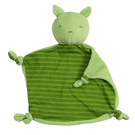 Green Sprouts Dream Window Organic Blankie Animal - Green Fox