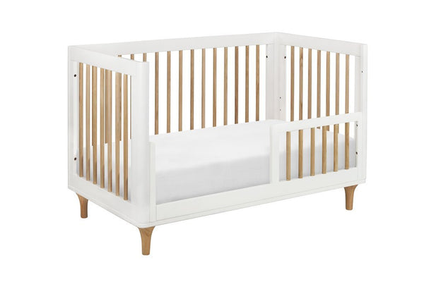 Lolly 3-in-1 Convertible Crib with Toddler Bed Conversion Kit (White/Natural)