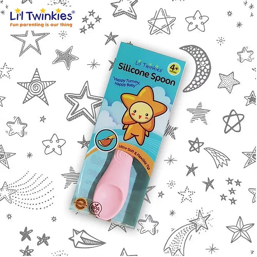 Li'l Twinkies Silicone Weaning Spoon, Light Pink