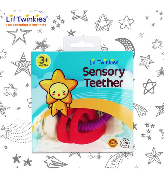 Li'l Twinkies Sensory Teether Rings - Luscious Hearts